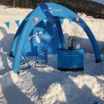 Uppblåsbart event tält som är lätt att sätta upp.